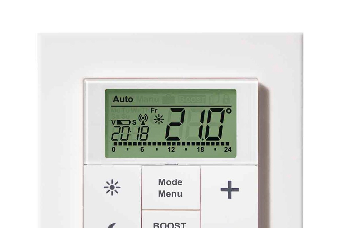 Heating control thermostat